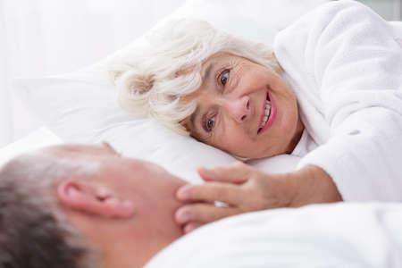 romance image: Image of beautiful relationship between happy elderly people Stock Photo