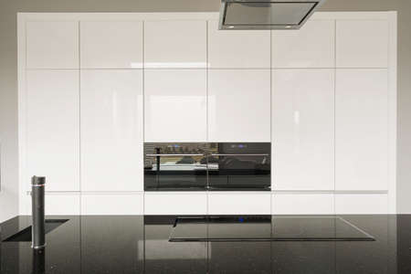 expensive house: Clean and shiny kitchen tiles in expensive house