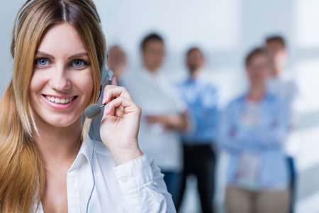 telemarketer: Pleasant telemarketer has very good results in the work
