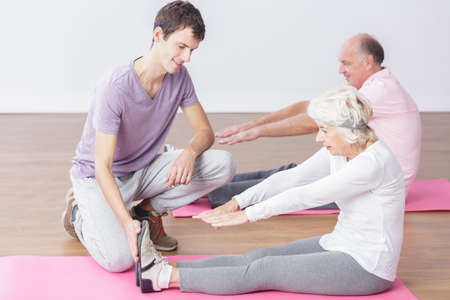 people   lifestyle: Image of healthy elderly people and sport activity