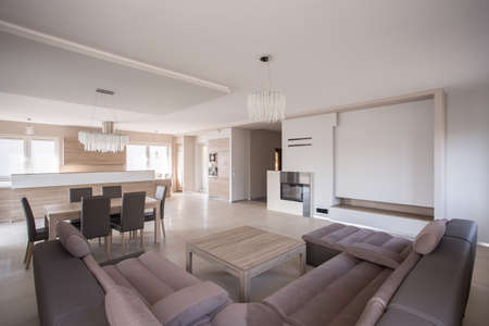 a detached living room: Luxury sitting room in exclusive detached house