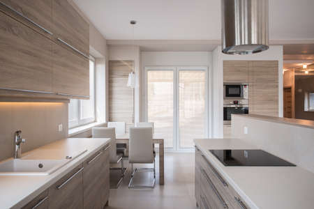 View of luxury kitchen in modern design
