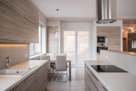 View of luxury kitchen in modern design