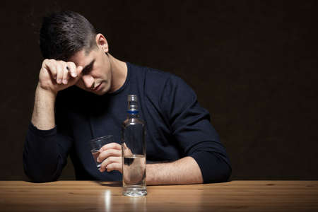addicted: Young man is very addicted and lonely