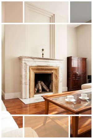 spacious: Spacious  interior of contemporary apartment living room Stock Photo