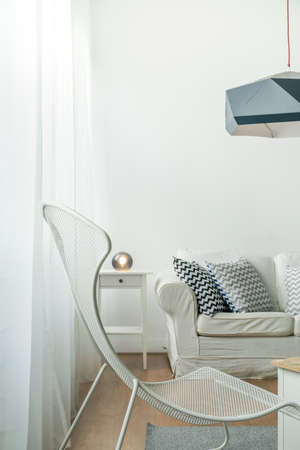 bright ideas: White matal chair as trendy detail in room