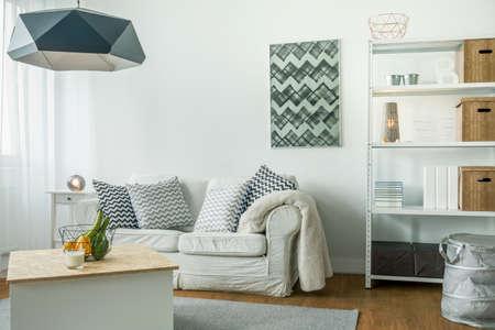 homelike: Modern minimalist design of bright living room