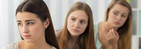 social outcast: Young girls friends want to know what happend