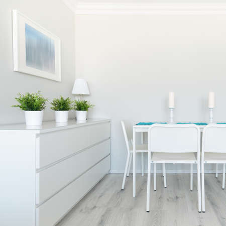 Picture of neatly arranged dinette full of day light Stock Photo