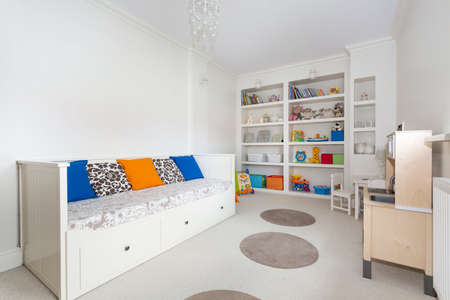 chandelier  kids: Horizontal picture of bright and colorful room for a kid