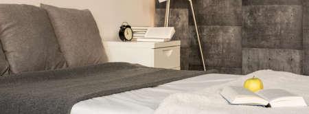 tasteful: Tasteful and minimalist bedroom in the house