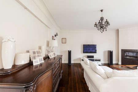 fashion photos: Image of stylish living room of multigenerational family