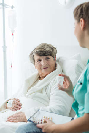 cheerfulness: Image of cheerfulness and professional medical healthcare Stock Photo