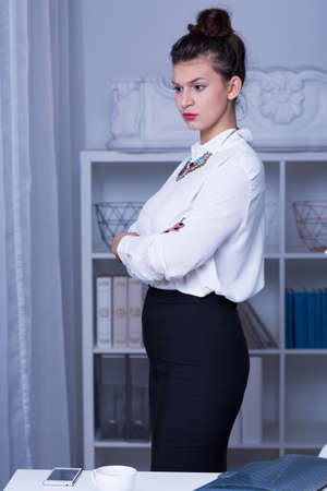 formal wear: Image of woman in business formal wear