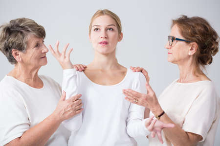 Image of support and trust between related women Stock Photo - 49672095