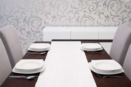well laid: Well laid table in elegant dining room