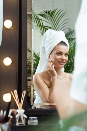 characterization: Photo of beautiful model preparing for an important show Stock Photo