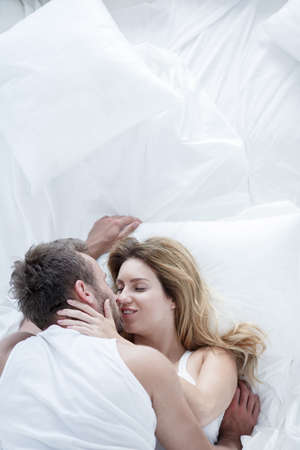 love image: Image of love and desire between wife and husband Stock Photo
