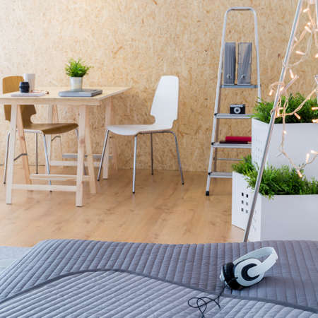 home accessories: Image of creative studio interior in new style