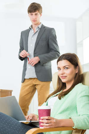 company director: Image of female creative director in business company Stock Photo