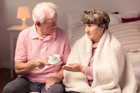 love image: Image of love and care between mature couple