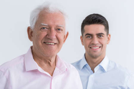intergenerational: Picture of intergenerational friendship between father and son