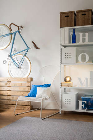 functional: Pretty and functional room for young person