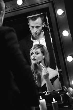 jealous: jealous man and his beautiful girlfriend