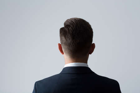 Closeup of back of young mans head