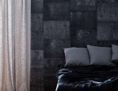 interior walls: Trendy bedroom for bachelor or young couple