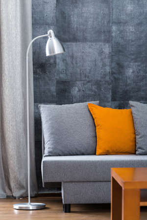 living style: Living room in modern style with beton wall