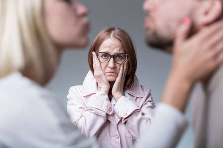 motherly love: Image of toxic motherly jealousy and overprotectiveness