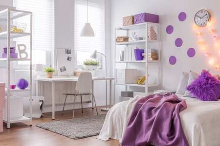 Picture of modern interior with purple color
