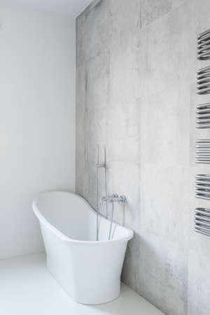 tasteful: Tasteful and porcelain bathtub in the house