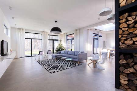 Ensoleillé et confortable salon dans la maison