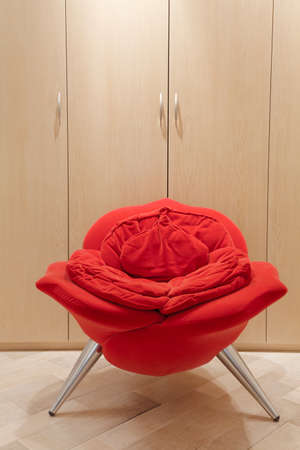 avantgarde: Vertical image of avant-garde armchair in shape of rose