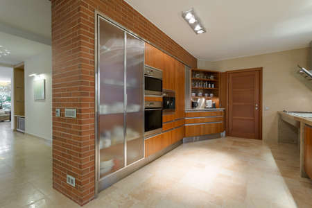 luxurious: Horizontal photo of grand and luxurious kitchen in a residence