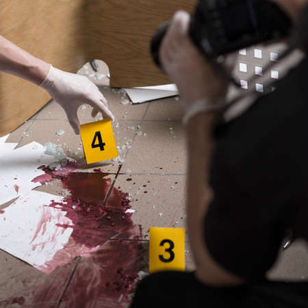 murder scene: Police officers must be professional at the crime scene