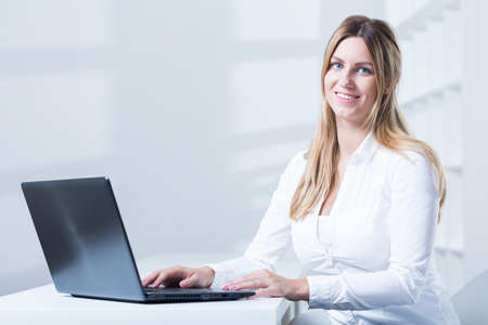 tele: Image of tele consultant with laptop during work