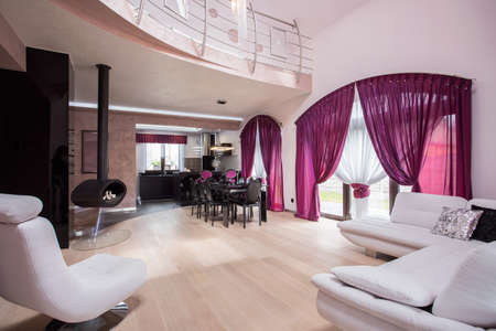 luxury room: Spacious stylish living room in luxury residence