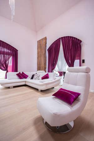 salotto elegante nel design bianco e nero foto royalty free ... - Soggiorno Bianco E Rosa