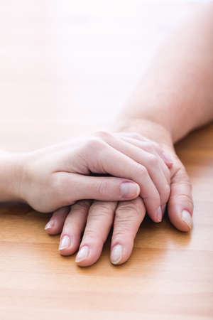 caring hands: Touching hands - gesture of support and care
