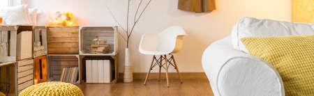 modern living room: Modern design interior of a living room Stock Photo