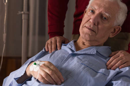 incurable: Terminal patient being on a drip at home