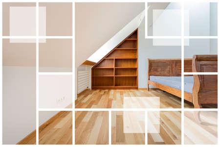 muebles de madera: Imagen del vacío interior con muebles de madera