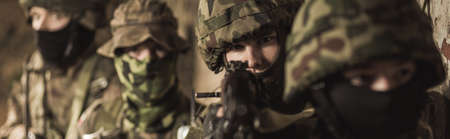 proving: Hard army training to protect country in danger