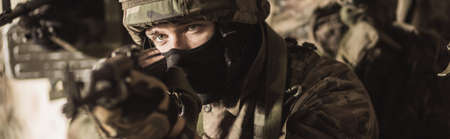 maneuver: Young soldiers serving in special force army