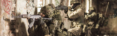 military training: Marines soldiers are participating in training ground