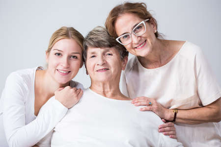 Image of love and trust between three family girls