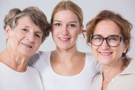Image of intergenerational family friendship between three women